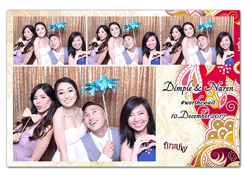 Wedding photo booth orange