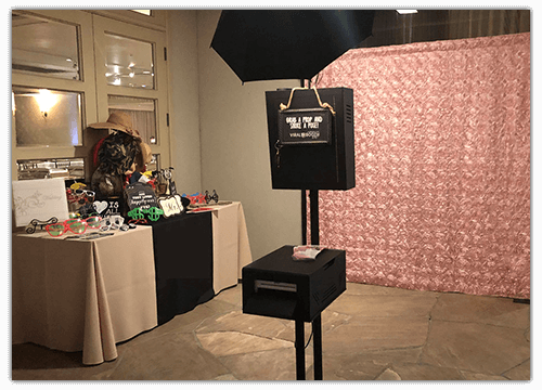 One of our wedding photo booths in Anaheim, CA